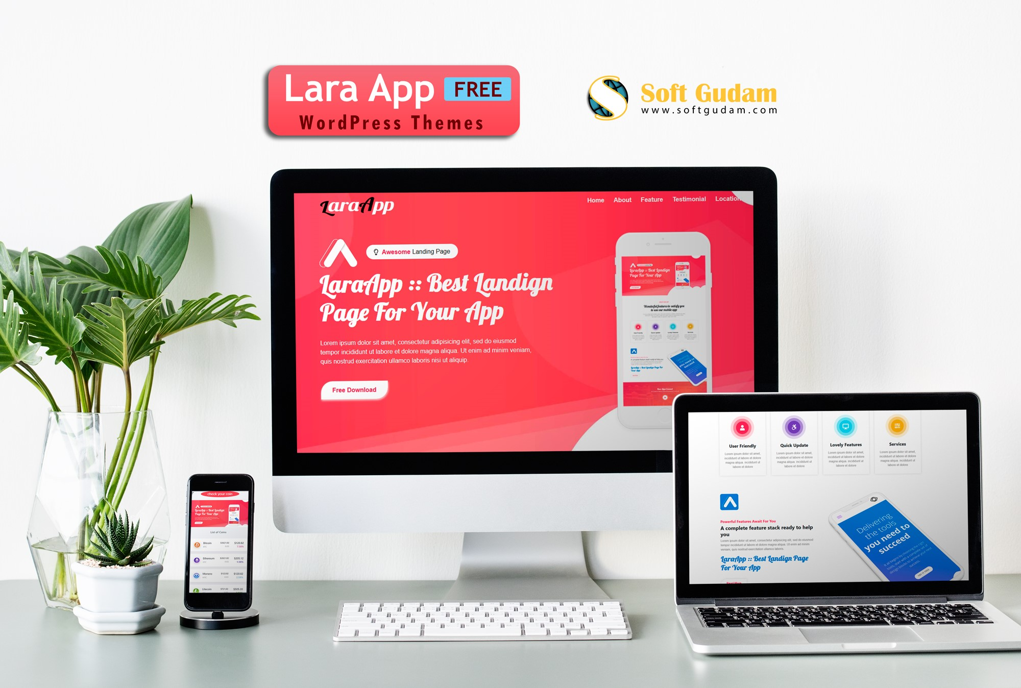 Lara App Download Free Wordpree Themes | SoftGudam