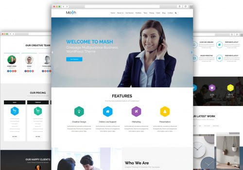 Mash Free WordPress Theme