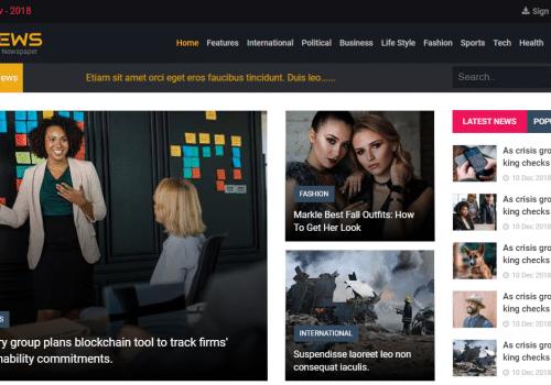 AZNews template