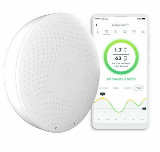 Airthingswave plus radon and air quality monitor.