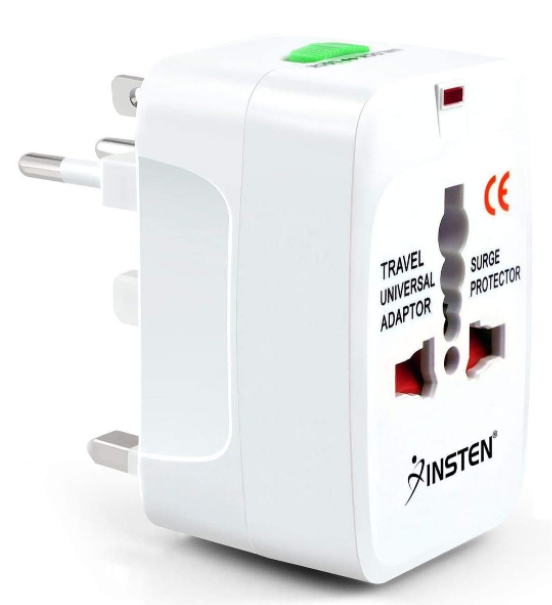 Insten Universal Worldwide Travel Adapter for 150+countries.