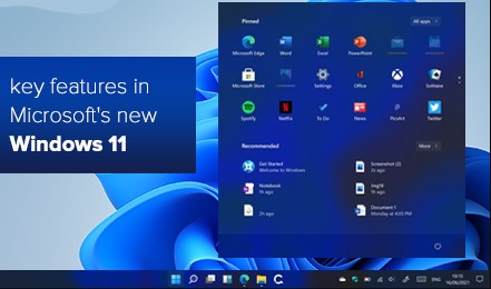 Key features of Windows 11