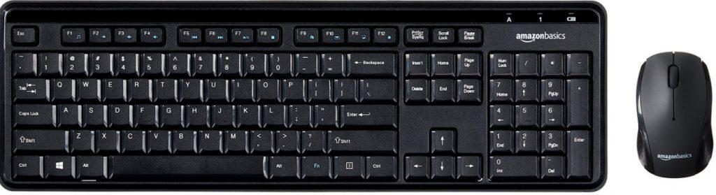 Amazon Basics Wireless Computer Keyboard and Mouse Combo