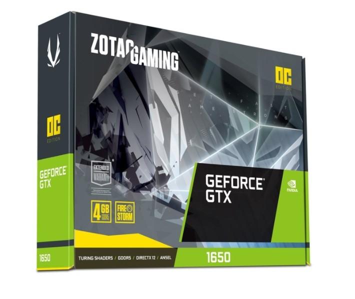ZOTAC GAMING GeForce GTX 1650 OC 4GB GDDR6 128-bit Gaming Graphics Card,